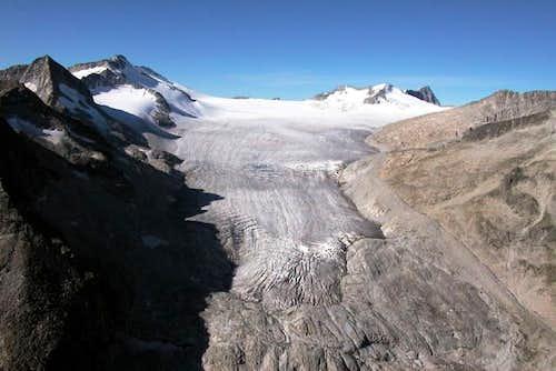 Mandrone glacier, 2003.