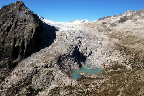 The Adamello glacier crossed...