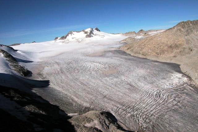 The Adamello glacier.