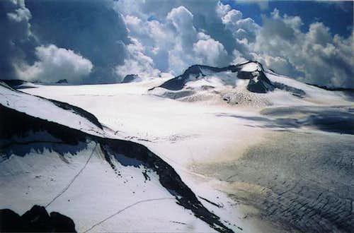The route for Monte Adamello...