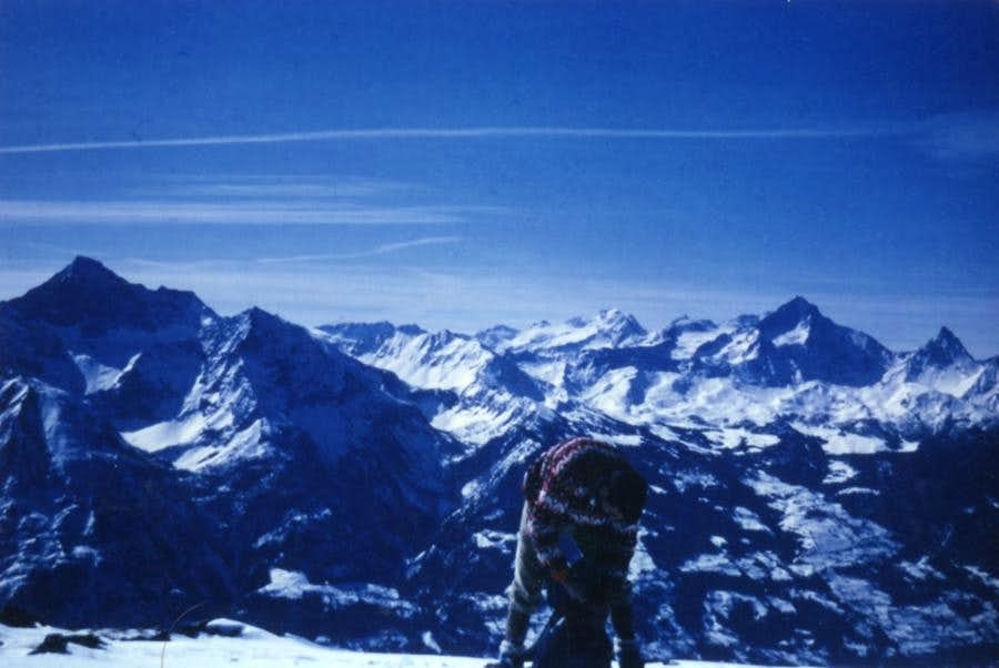 Eastern Winter ascent by Blavy on Mont Mary 1968