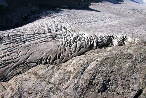 The body of the glacier with...