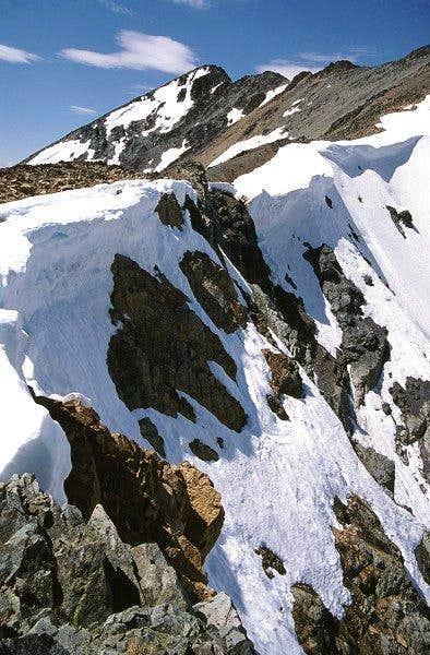 Cornices on the SE ridge of...