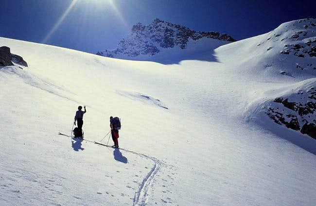 On the Teleccio glacier near...