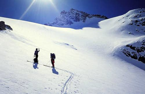 On the Teleccio glacier near...