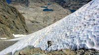 Ascending North Face Glacier of Mt. Ritter