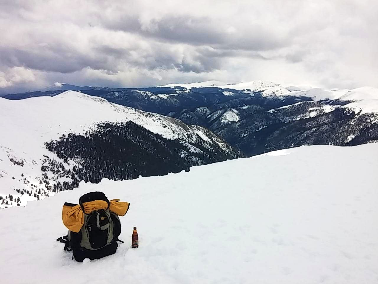 Snowy Spring on Colorado Mines Peak, 2015-05-24