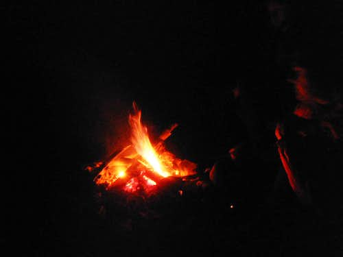 Campfire with Anish