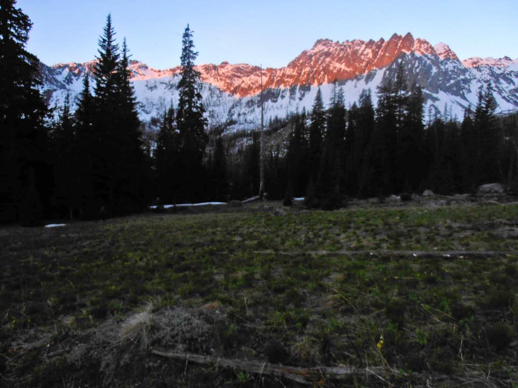 Alpenglow from Gardner