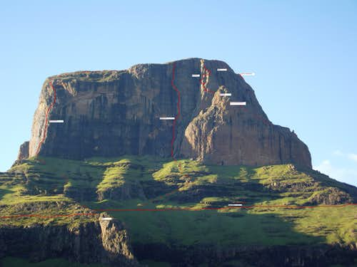 Sentinel Drakensberg Angus Leppan Route