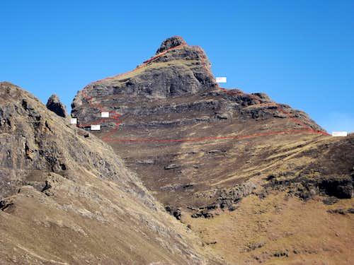 The NE Ridge of Cathedral Peak