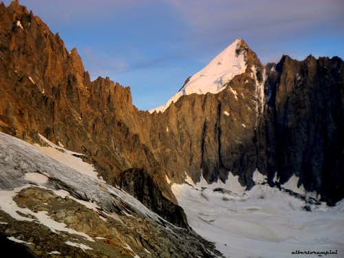 Mont Dolent, summit of three borders: Switzerland, France and Italy