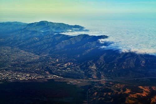 overlooking the Santa Ana Mountains