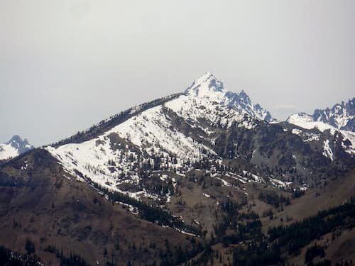 Mounta Stuart and Navaho from Miller Peak