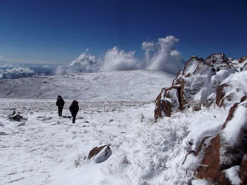 Mafadi in snow