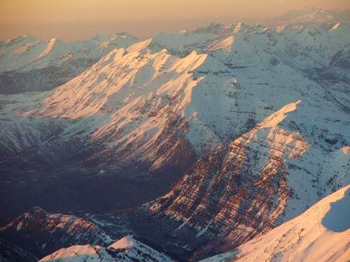 Mt. Timpanogos from the air...