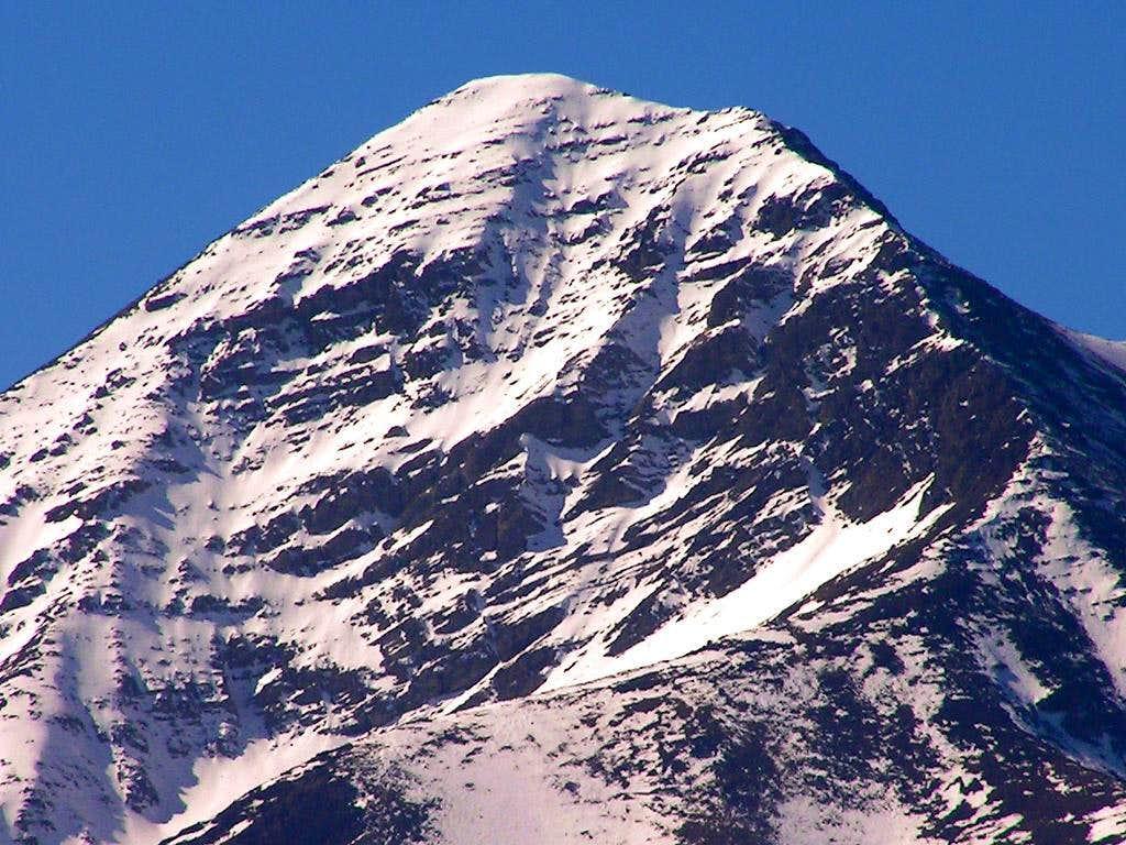 Diamond Peak's summit block...
