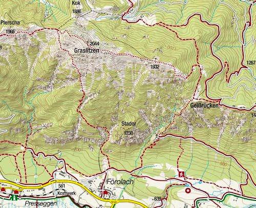 Graslitzen map