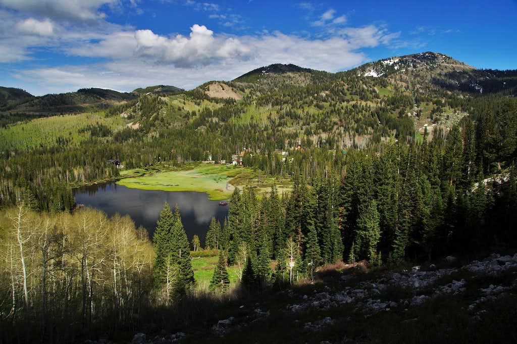 Clayton Peak on the right