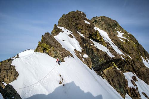 Steve Traversing on East Ridge