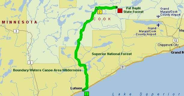 0.0 miles: Depart Lutsen on...