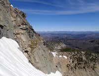 From NE Couloir