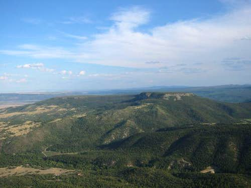 Urraca Mesa as seen from the...