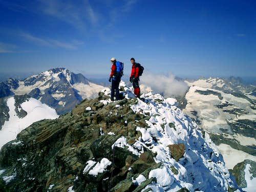 Summit of Piz Gluschaint, Bernina Group