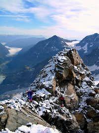 Piz Gluschaint summit ridge