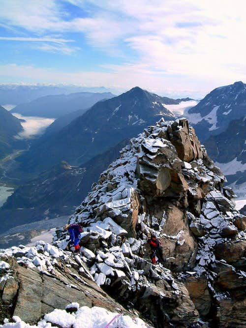 Piz Gluschaint summit ridge