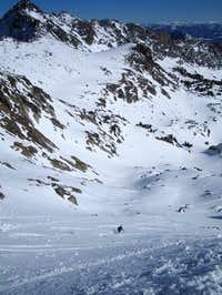 A well-earned ski descent...