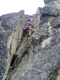 Climber on the 2nd pitch