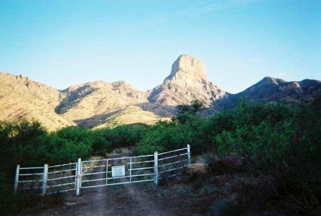 A view of Baboquivari Peak...