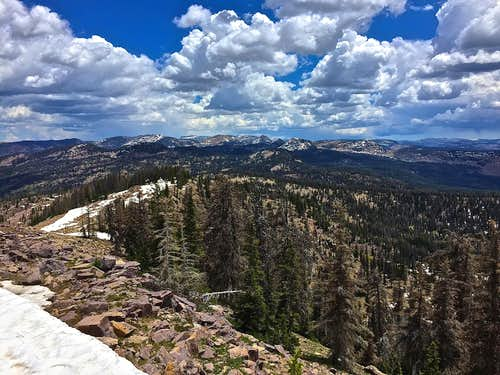 Looking east at the Uintas from Duke Mountain.