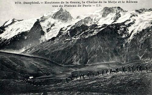 Meije - glacier de Mont de Lans
