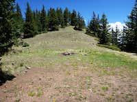 North slope of saddle