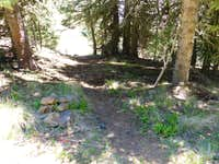 The short trail down to the trailhead