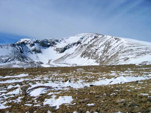 Mount Adubon\'s east slopes on...