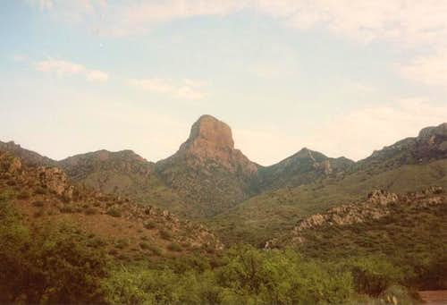A view of Baboquivari Peak,...