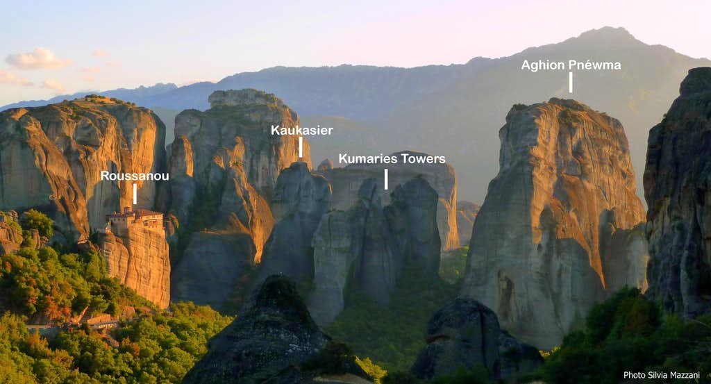 Aghion Pnéwma labelled pano - Meteora