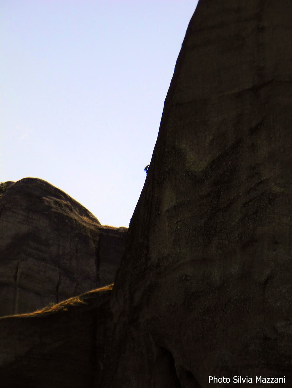 Outline of a climber along the Pillar of Dreams