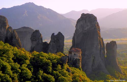 Sunset over Meteora Southern Group