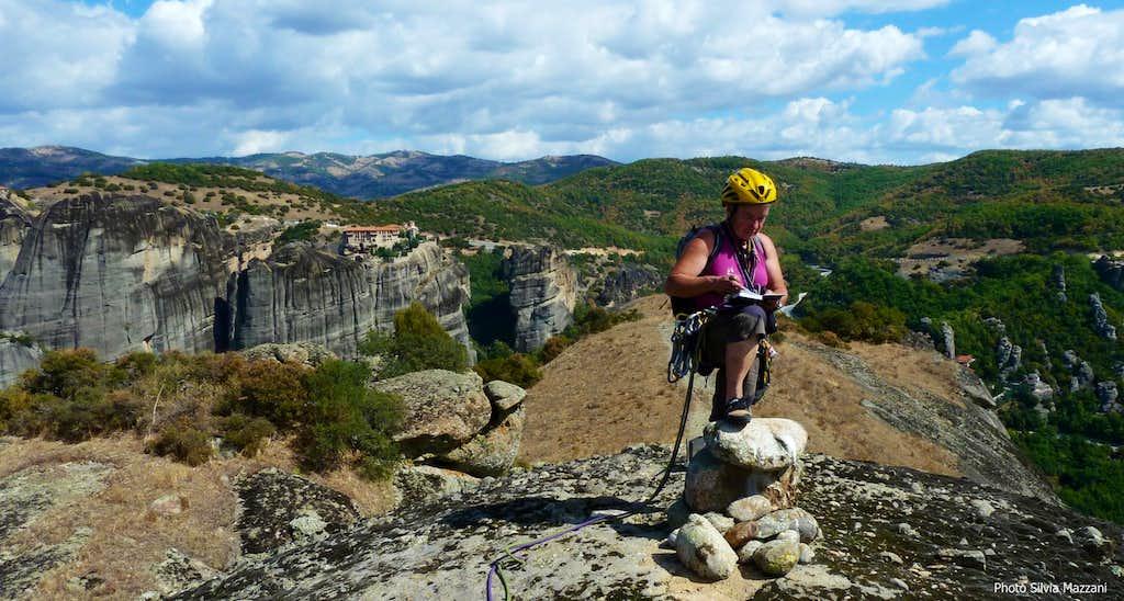 A joyful summit log on Heiliger Geist, Meteora