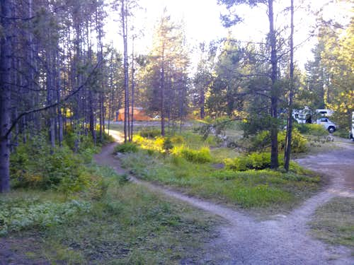 Inside the campground