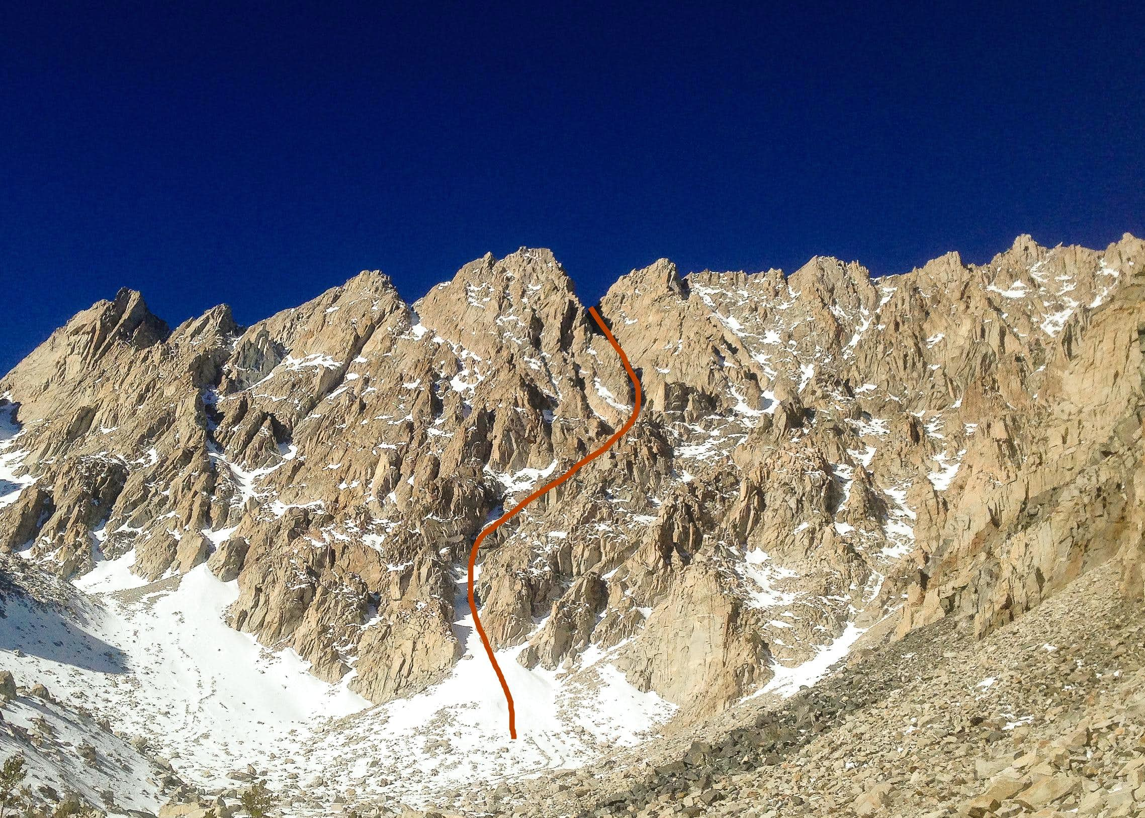 East Face Direct Couloir