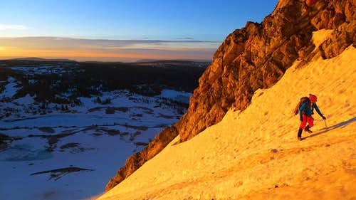 Sunrise on Medicine Bow's E Face
