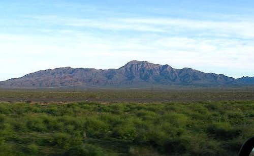 Moapa Peak from I-15 in the...