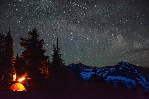 Rock Peak and Milky Way