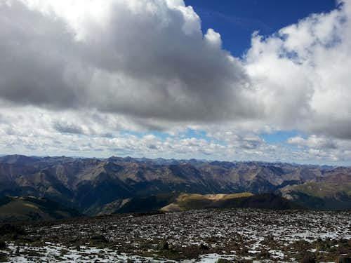 View from the top of Uncompahgre Peak