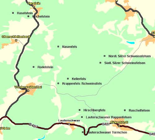 Map of the Vorderweidenthal...